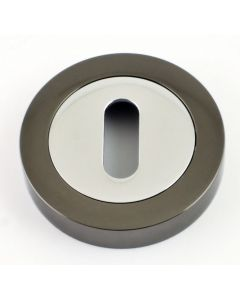 Standard Profile Escutcheon - Dual Finish - Polished Chrome & Black Nickel