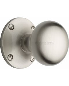 Kensington Round Mortice Knobs - Satin Nickel