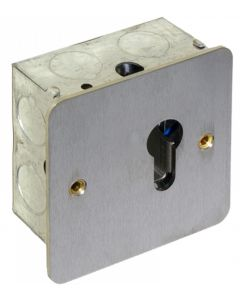 Deedlock Flush Euro Profile Maintained Key Switch - Satin Stainless Steel