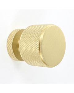 knurled-pattern-cylinder-shape-cupboard-knob-satin-brass