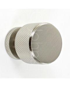 knurled-pattern-cylinder-shape-cupboard-knob-satin-nickel