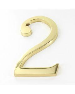 Large Bold Style Pin Fix Front Door Numbers 152mm High - Polished Brass