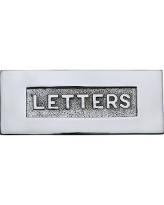 "Letter Plate With Embossed ""LETTERS"" On Flap - 254mm x 101mm - Polished Chrome"