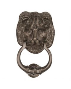 Traditional Lion Door Knocker - Matte Bronze Finish