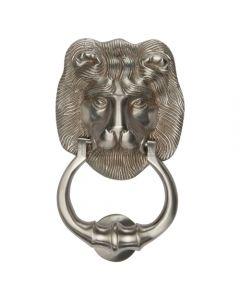 Traditional Lion Door Knocker - Satin Nickel Finish