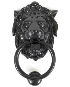 Lion's Head Door Knocker - Black