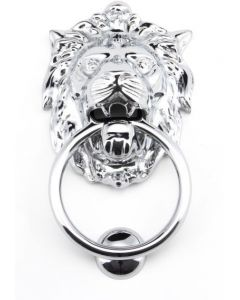 Lion's Head Door Knocker - Polished Chrome