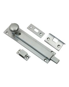 Locking Pattern Straight Design Door Bolt - Satin Chrome