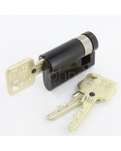10 Pin - Single Euro Profile Cylinders - Mid Level Security - Key (One Sided) - Matt Black
