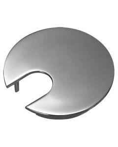 Cable Outlet Sleeve - 63mm Diameter Hole - One Piece Metal Design - Matt Chrome
