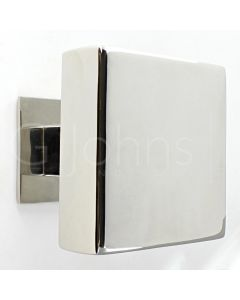 Modern Square Shape Centre Door Knob - Polished Stainless Steel