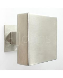 Modern Square Shape Centre Door Knob - Satin Stainless Steel