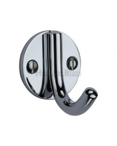 Modern Style Robe Hook - Polished Chrome