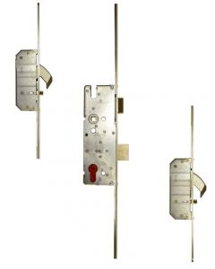 Auto Locking Multipoint Set For External Doors - Left Hand - 92mm Euro Centres - Door Height 2050mm - To Suit 44mm - 54mm Thick Doors
