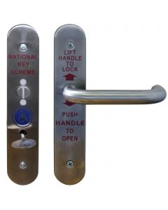 Accessible Toilet Lock & Handle Set For Disabled WC Toilets - Grade 316 Satin Stainless Steel