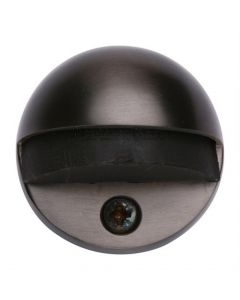 Oval Floor Mounted Door Stop - Matt Black Bronze