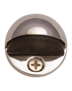 Oval Floor Mounted Door Stop - Polished Nickel
