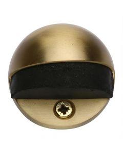 Oval Floor Mounted Door Stop - Satin Brass