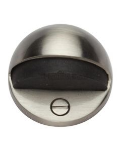 Oval Floor Mounted Door Stop - Satin Nickel