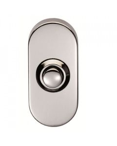 Oval Shaped Bell Push - 64mm x 30mm - Satin Stainless Steel - Grade 316