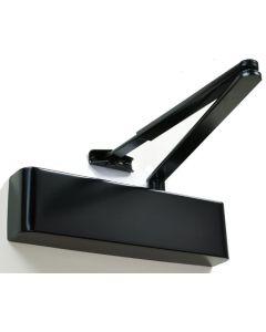 Slimline Overhead Door Closer With Backcheck - CE Marked - Fire Rated - Certifire Approved - EN1154 Power Size 2-5 - Adjustable Via Spring - 240mm x 69mm x 49mm - Matt Black