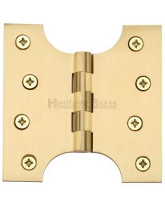 Parliament Projection Hinges - Satin Brass - 102mm x 102mm - 50mm Projection
