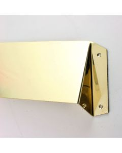 Letter Plate Internal Security Hood Cowl - Polished Brass