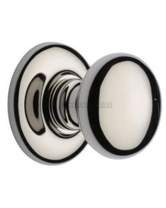 Traditional Centre Door Knob - Polished Nickel