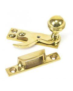 Prestbury Hook Pattern Sash Fastener - Polished Brass Unlacquered