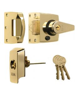 ERA High Security B.S. Night Latch (Front Door Yale Lock) - Polished Brass