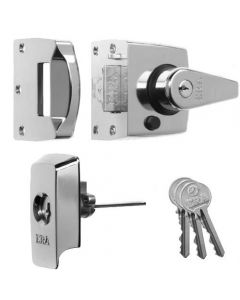 High Security B.S. Night latch (Front Door Yale Lock) - Polished Chrome