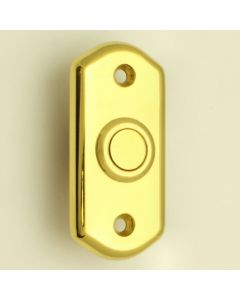 Shaped Flush Fit Bell Push - Polished Brass