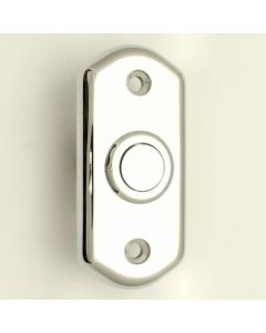 Shaped Flush Fit Bell Push - Polished Chrome