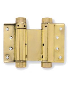 Double Action Spring Hinges - For Double Swing Doors - Polished Brass - Four Sizes