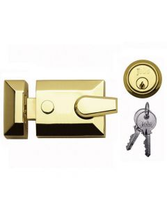 Night Latch (Front Door Yale Lock) - Polished Brass