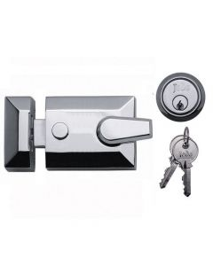 Night Latch (Front Door Yale Lock) - Polished Chrome