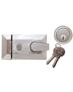 Night Latch (Front Door Yale Lock) - Satin Chrome