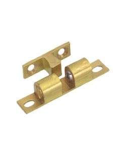 Double Ball Bearing Cupboard Catches - Brass