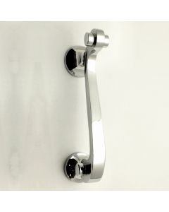 Scroll Design Narrow Style Door Knocker - Polished Chrome