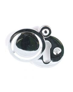Plain Covered Escutcheon - (Key Hole Cover) - 32mm Diameter - Polished Chrome