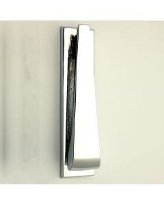Contemporary Design Narrow Style Front Door Knocker - Polished Chrome