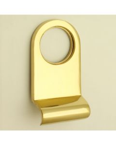 "Front Door Cylinder Pull - To Suit Standard ""Yale"" Style Locks - Polished Brass"