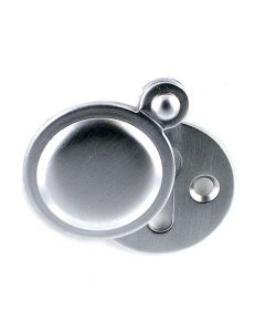 Plain Covered Escutcheon - (Key Hole Cover) - 32mm Diameter - Satin Chrome