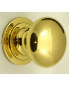 Heavy Quality Solid Brass Cupboard Knobs - Polished Brass
