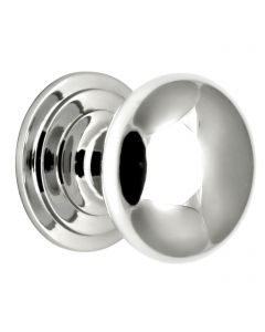 Traditional Heavy Quality Solid Brass Cupboard Knobs - 5 Sizes Available - Polished Chrome