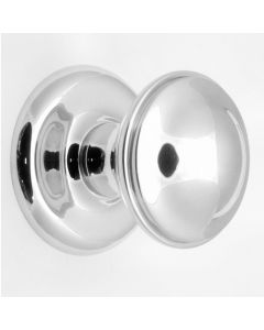 Centre Front Door Knob - Polished Chrome - 66mm Diameter