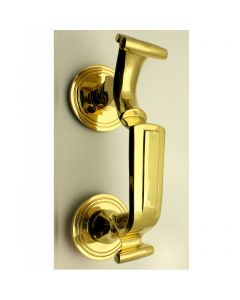 Doctors Style Front Door Knocker - Polished Brass
