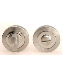 Bathroom Turn & Release Set - Dual Finish Satin & Polished Stainless Steel