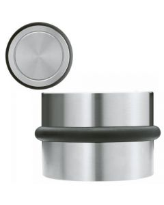 Large Free Standing Portable Door Weight / Door Stop From Satin Stainless Steel