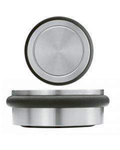 Small Free Standing Portable Door Weight / Door Stop From Satin Stainless Steel